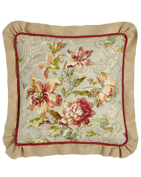 Fresco Ruffled Square Pillow