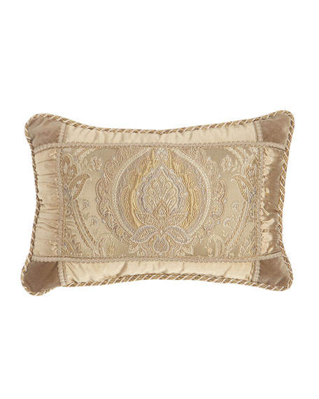 "Austin Horn Collection Renaissance Boudoir Pillow, 14"" x 20"""
