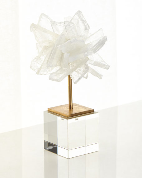 John-Richard Collection Selenite Blossom on Stand