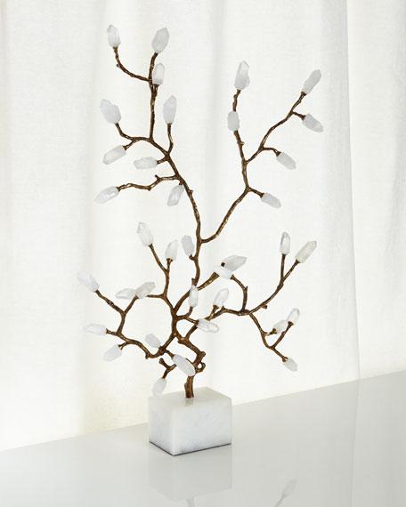 John-Richard Collection Quartz Crystal Branch Sculpture