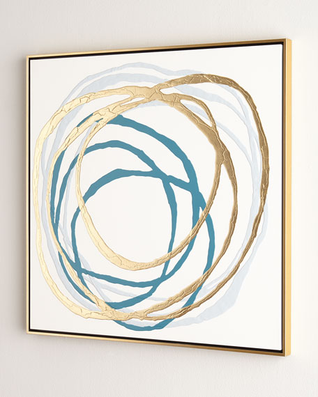 """""""Rings in Turquoise"""" Original Painting"""