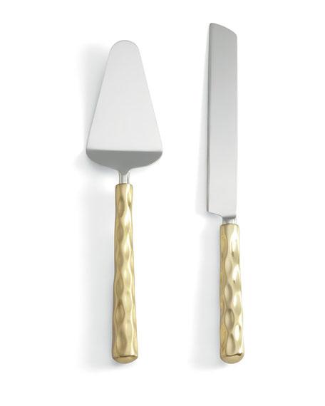 Michael Wainwright Truro Gold Cake Knife & Server