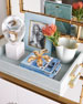 Image 3 of 3: Mist Classic Faux-Shagreen Serving Tray