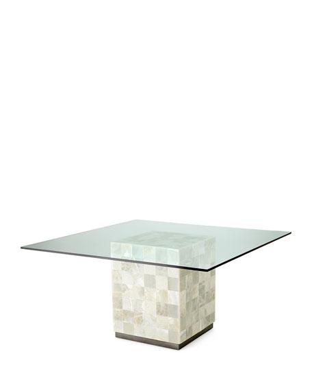 Bernhardt palmetto quartz dining table elizabeth dining for Quartz top dining table