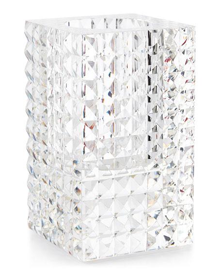 Rectangular Vase with Pyramid Cuts