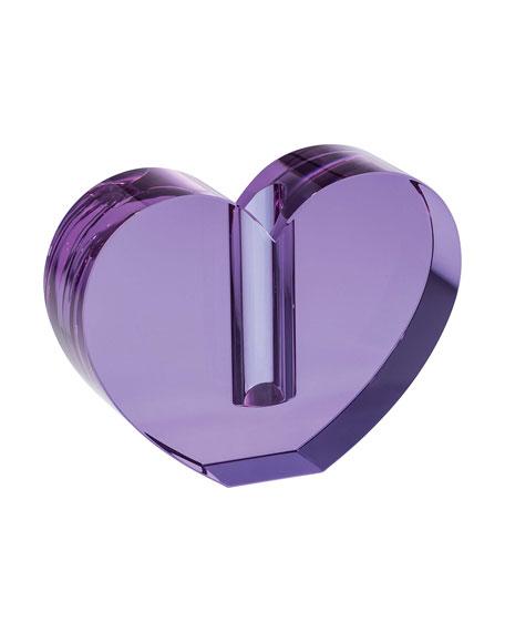 Lavender Heart Vase