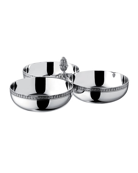 Malmaison Triple Bowl Server