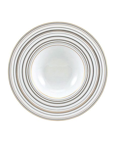 Raynaud Attraction Gold & Platinum Rim Soup Plate