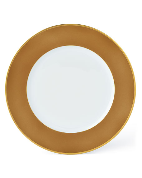 Haviland Color Block Bronze/Gold Dinnerware