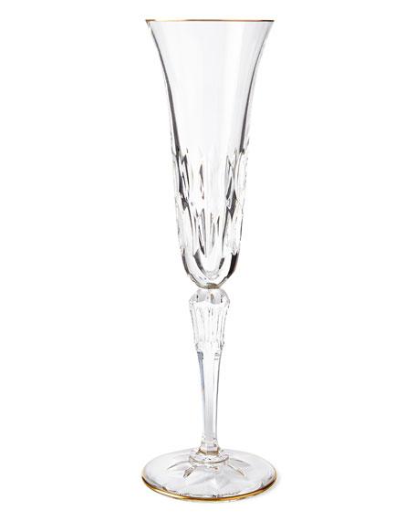 Stella Champagne Flute with Gold Rim
