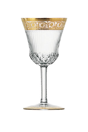 Saint Louis Crystal Thistle Gold American Water Goblet