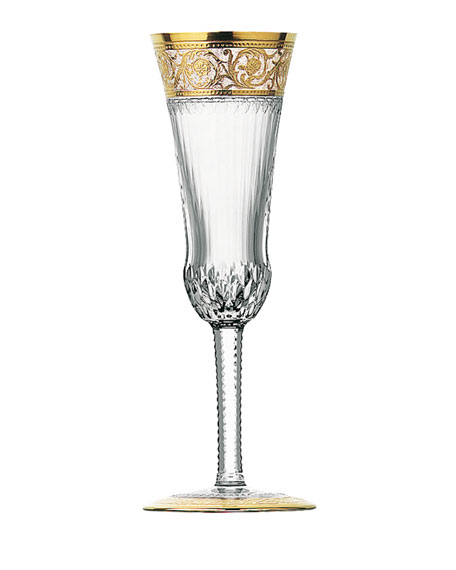 Saint Louis Crystal Thistle Gold Champagne Flute