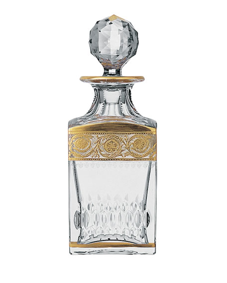 Saint Louis Crystal Thistle Gold Decanter