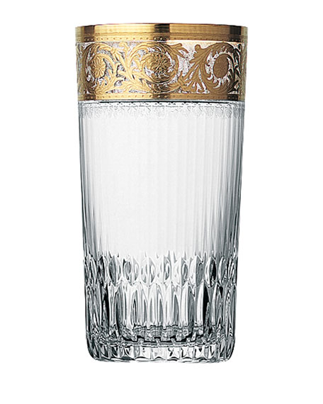 Saint Louis Crystal Thistle Gold Large Highball