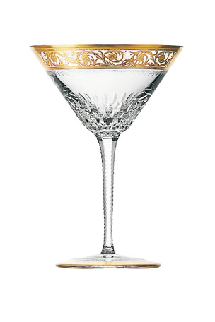 Saint Louis Crystal Thistle Gold Cocktail Glass