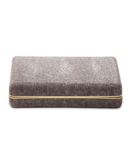 Chocolate Shagreen Card Case