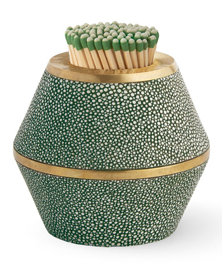 Faux-Shagreen Cone Match Striker