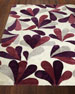 Image 1 of 2: Aubergine Drops Rug, 4' x 6'