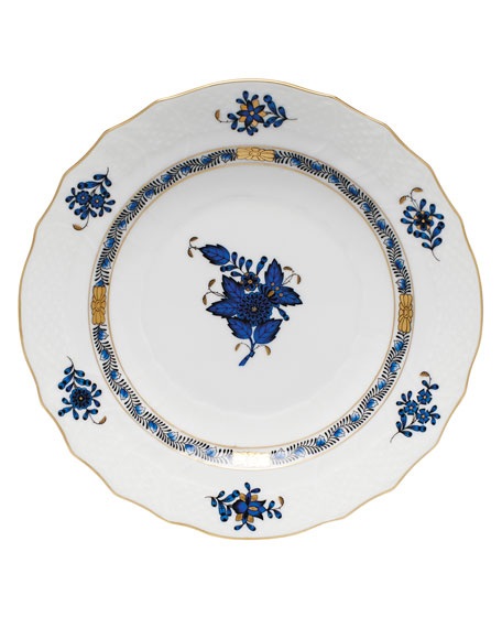 Chinese Bouquet Black Sapphire Salad Plate