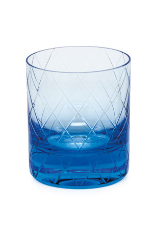 Moser Bonbon Aquamarine Double Old-Fashioned Tumbler