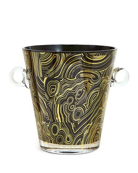 Malachite-Pattern Ice Bucket