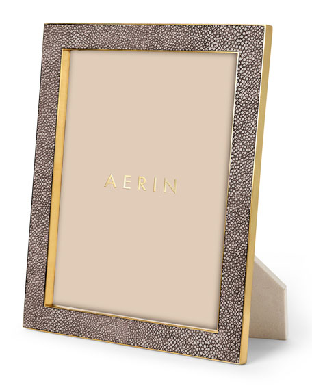 "Chocolate Deco Faux-Shagreen 8"" x 10"" Frame"