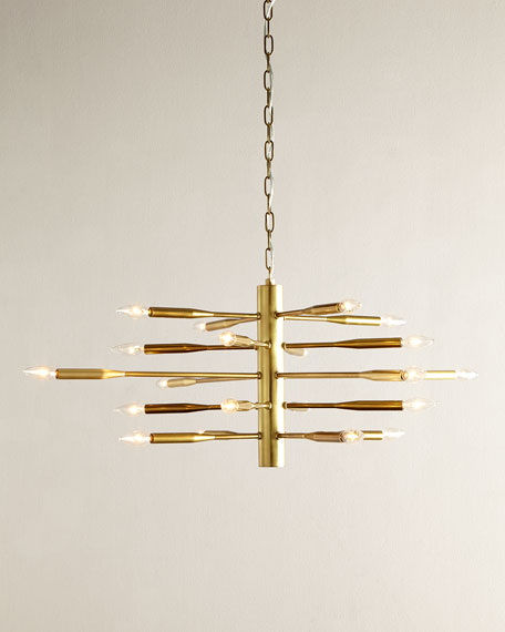 Antiqued Brass Sputnik Chandelier