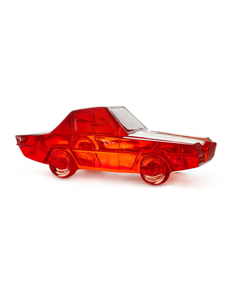 Jonathan Adler Red Acrylic Car Sculpture