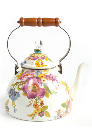MacKenzie-Childs Flower Market Three-Quart Tea Kettle