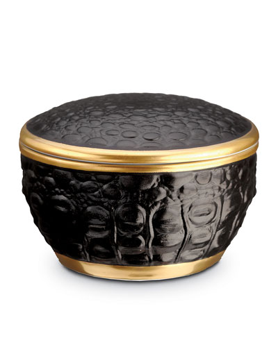 Crocodile Round Box