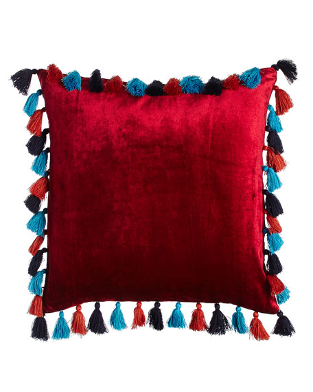 Blissliving HOME Embroidered Viva Mexico Pillow, 18