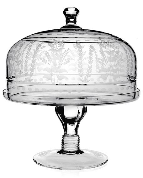 "Portia 12"" Cake Stand with Dome"