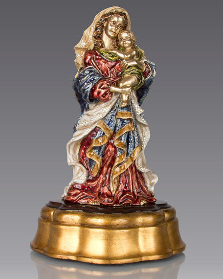 Jay Strongwater Madonna & Child Figurine