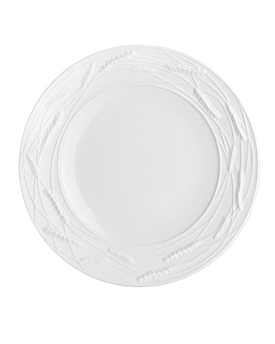 Wheat Porcelain Accent Plate, White