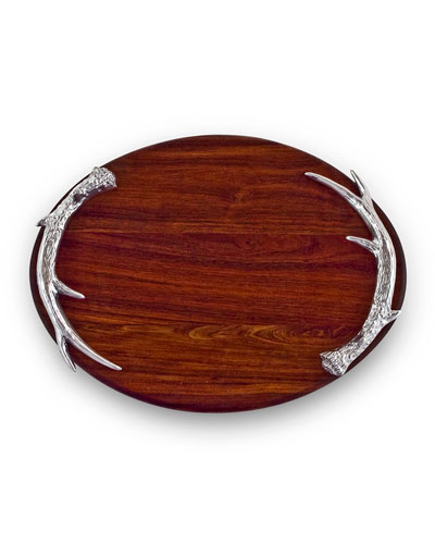 Western Antler Large Oval Cutting Board