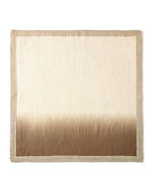 Kim Seybert Natural/Brown Dip Dye Napkin