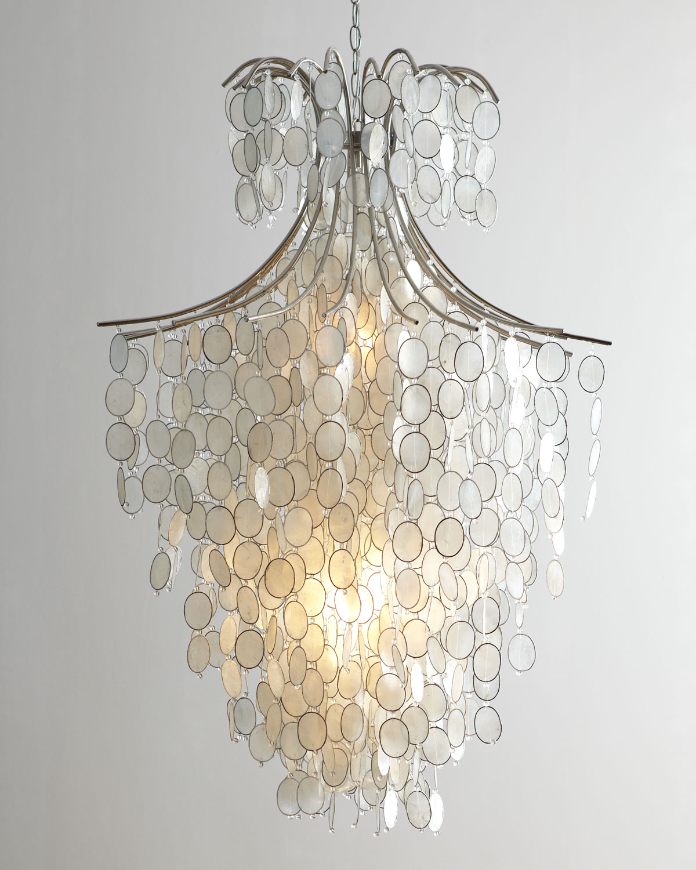 Dripping Capiz 2 Light Chandelier Neiman Marcus
