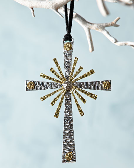 Michael Aram Forged Cross Christmas Ornament