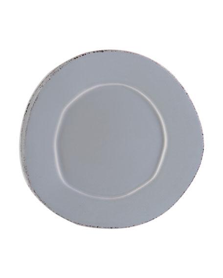 Vietri Lastra Salad Plate, Gray