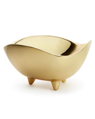 Footed Deco Large Serving Bowl