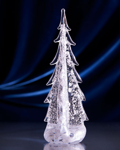 "Sterling Silver-Leaf Evergreen 12"" Tree"