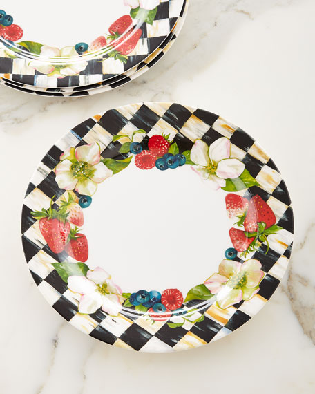 Mackenzie Childs Berries Amp Blossoms Melamine Dinner Plates