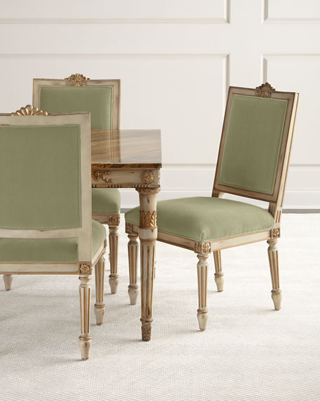 John-Richard Collection Valerie Velvet Dining Chair, Set of