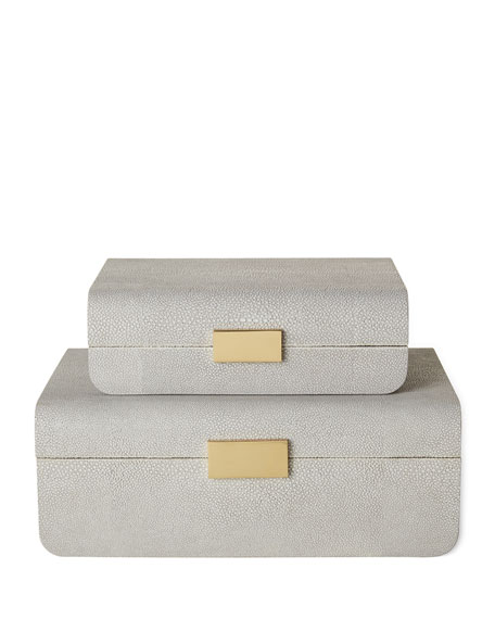AERIN Small Mod Shagreen Jewelry Box