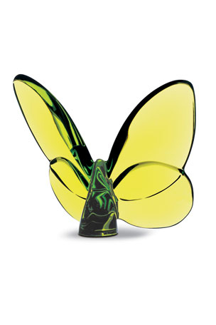 "Baccarat ""Lucky"" Butterfly, Olivine"