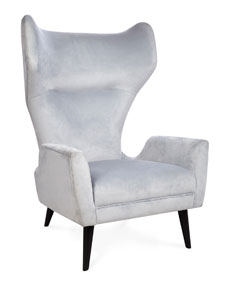 jonathan adler milano wing chair. Black Bedroom Furniture Sets. Home Design Ideas
