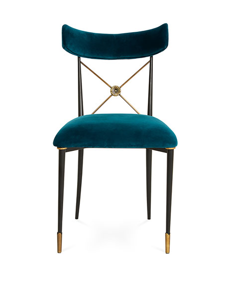 Jonathan Adler Rider Blue Dining Chair