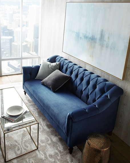 Raina Tufted Velvet Sofa