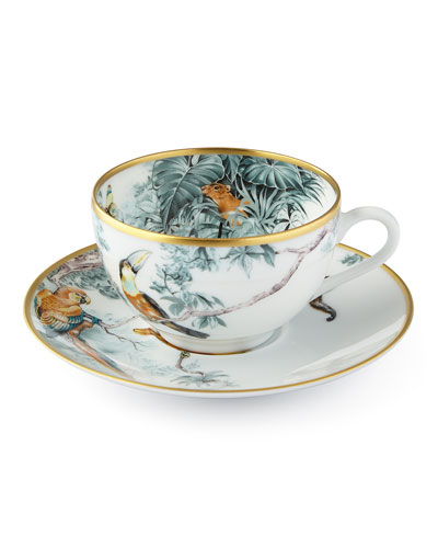 Carnets du0027 Equateur Birds Tea Cup u0026 Saucer  sc 1 st  Neiman Marcus & Hermes Dinnerware u0026 Entertaining Sets at Neiman Marcus
