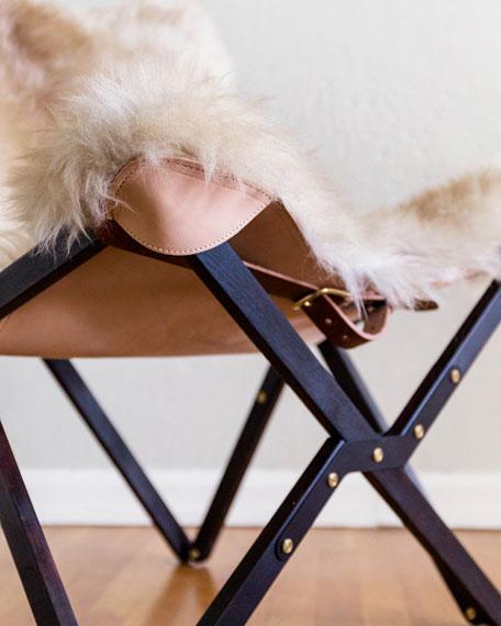 Dollie Noir Beige Brown Sheepskin Chair